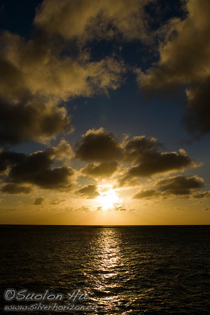 Sunset in Oranjestad, Aruba