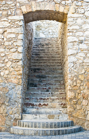 Stairway at Riff Fort, Willemstad, Curacao