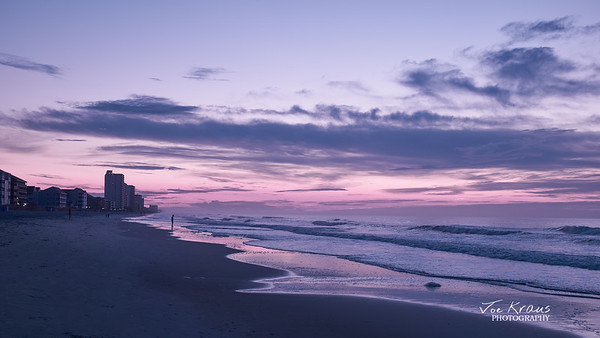 Purple Beach - Sunrise in Hypercolor