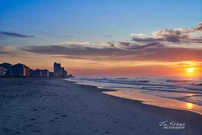 Gonden Sunrise at Garden City Beach