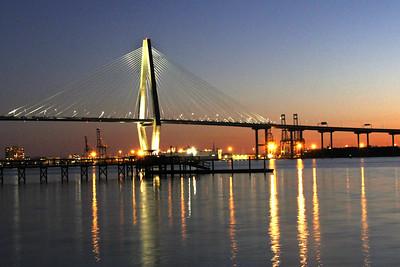 Ravenel Bridge After Dark