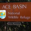 Signage - ACE Basin National Wildlife Refuge - Edisto Area is Grove Plantation and Preserve