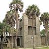 The Watchtower - Atalaya at Huntington Beach State Park, Murrells Inlet, SC  3-26-11<br /> The one-story brick building is dominated by a square tower that rises nearly 40 feet from a covered walkway that bisects the inner courtyards.  It was functional, having contained a 3,000-gallon cypress water tank.