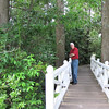 Randal on the Bridge into the Woodland Trails - Summerville, SC - Azalea Park with Sculptures - May 10, 2010
