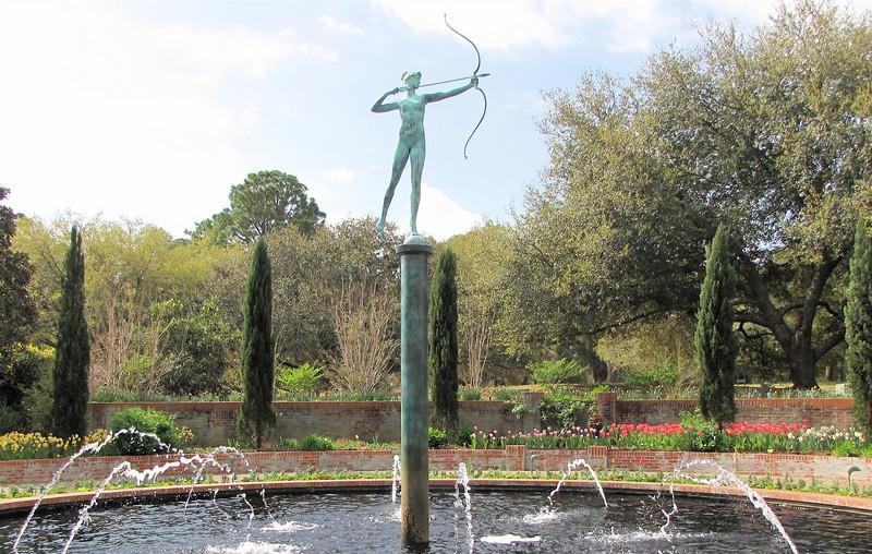 Archer Sculpture in Fountain - Brookgreen Gardens, Murrells Inlet, SC  3-25-11