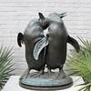 Penguins, Albert Laessle (1877-1954), Bronze, 1917 - Brookgreen Gardens, Murrells Inlet, SC  3-25-11
