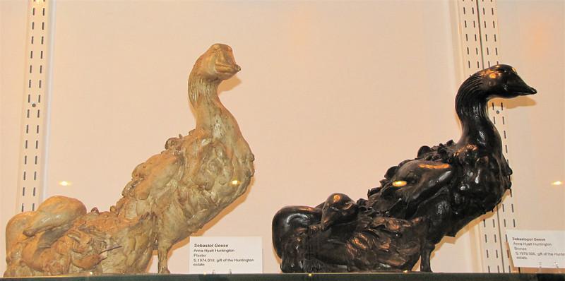 Sebastol Geese, Anna Hyatt Huntington, Plaster - Brookgreen Gardens, Murrells Inlet, SC  3-25-11