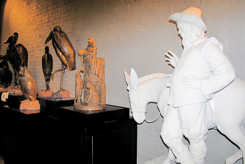 Sculpture Pavilion - Brookgreen Gardens, Murrells Inlet, SC  3-25-11<br /> The White Sculpture is Sancho Panza by C. Paul Jennewein, Don Quixote's Loyal Follower.