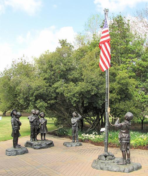 Sculpture at the Welcome Center - Brookgreen Gardens, Murrells Inlet, SC  3-25-11