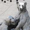 Brown Bears, Anna Hyatt Huntington (1876-1973), Aluminum, 1935 - Brookgreen Gardens, Murrells Inlet, SC  3-25-11