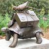 Portion of The Turtle Train, W. Stanley Proctor (born 1939), Bronze - Brookgreen Gardens, Murrells Inlet, SC  3-25-11