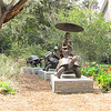 """Children's Garden - Brookgreen Gardens, Murrells Inlet, SC  3-25-11<br /> The Turtle Train, W. Stanley Proctor (born 1939), Bronze - Given as a gift in honor of Deidre Phipps:  """"In praise of the Creation Earth and its host of living things.""""  Prior to concentrating on bronze sculpture, native Floridan """"Sandy"""" Proctor was an accomplished painter and stone carver.  His sculpture often depicts the unique traits, characteristics, and personalities of people and animals.  Proctor's work can be seen in public installations across the country.  In 2006, he was inducted into the Floria Artists Hall of Fame for his contribution to the arts."""