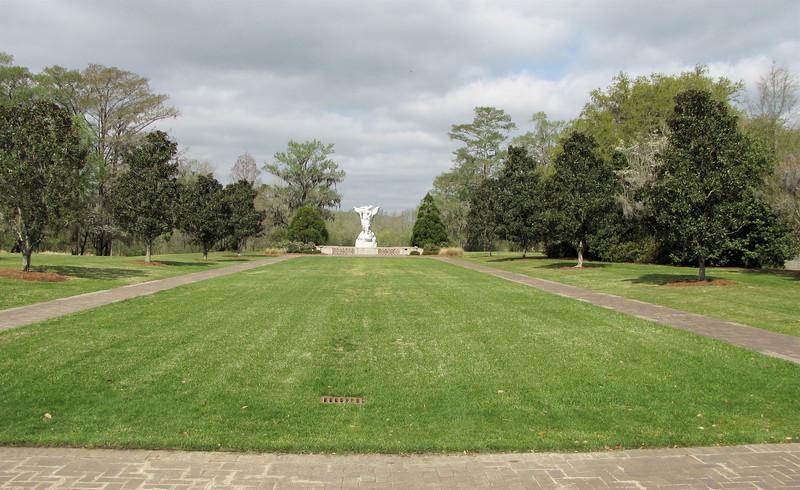 Lawn Facing Largest Sculpture at Brookgreen Gardens, Murrells Inlet, SC  3-25-11