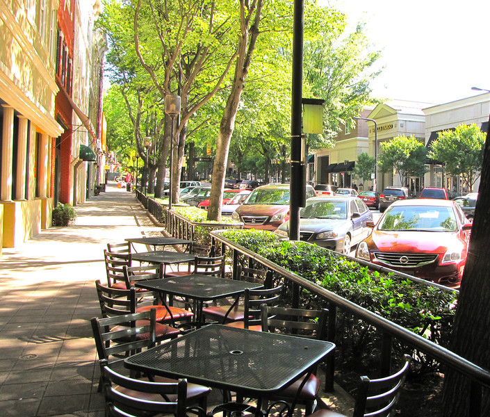Many Outdoor Dining Options - Downtown Greenville, SC  5-11-12