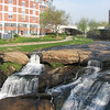 Greenville,SC - Along The Reedy River - Falls By Textile Buildings Converted To Condos