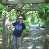 Donna Under Arbor - Hatcher Garden and Woodland Preserve - Spartanburg, SC