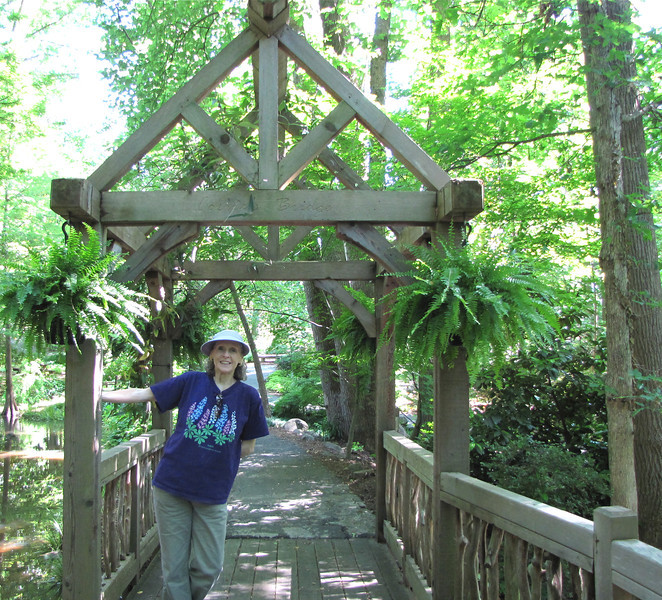 Donna on Bridge - Hatcher Garden and Woodland Preserve - Spartanburg, SC