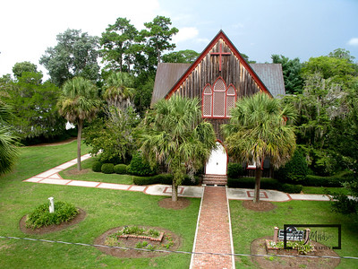 The Church of the Cross 110 Calhoun Street Bluffton, SC 29910  http://www.thechurchofthecross.net/  Pole Aerial Photography (PAP) using a Canon G9 and CHDK.  © Copyright m2 Photography - Michael J. Mikkelson 2009. All Rights Reserved. Images can not be used without permission.