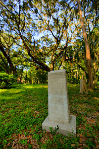 Grave stone in Old Cometary under Live Oak in May River Plantation  © Copyright m2 Photography - Michael J. Mikkelson 2009. All Rights Reserved. Images can not be used without permission.