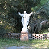 Statue of Christ On Driveway In