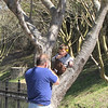 Father Taking Photo of Son in Tree - Riverfront Park and Columbia Canal, Downtown Columbia, SC