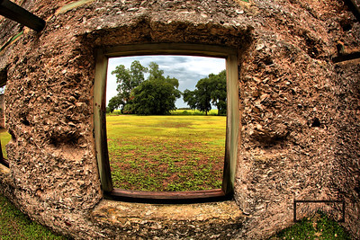 Looking through old window towards lowcountry at the Tabby Ruins on Spring Island, South Carolina  © Copyright m2 Photography - Michael J. Mikkelson 2009. All Rights Reserved. Images can not be used without permission.