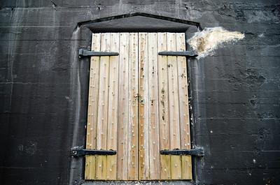 old fort or warehouse door