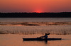 Kayaking along the South Carolina coast at sunset