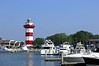 Hilton Head Island with it's famous lighthouse and the marina in Sea Pines Plantation.