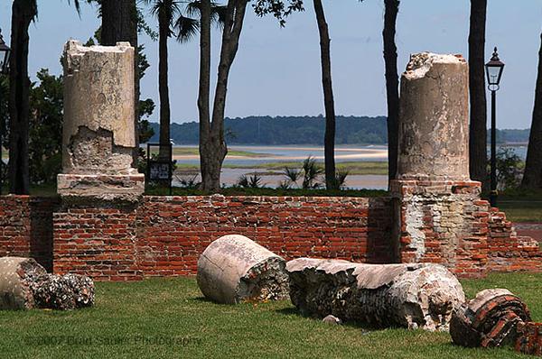 Palmetto Bluff ruins.