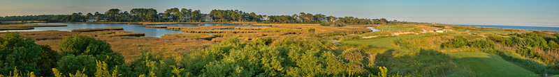 Panoramic view of the back nine at the Ocean Course on Kiawah Island, SC
