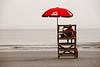 Life guard stand on beach in Hilton Head Island, South Carolina.