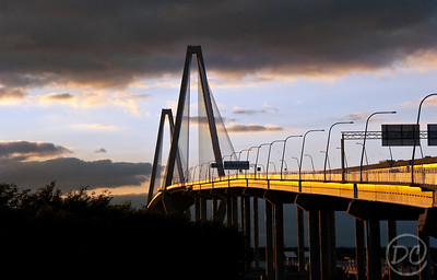 Charleston Bridge at sunset