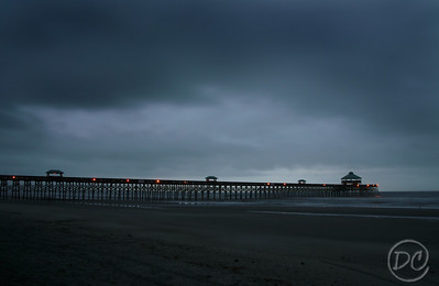 Folly Beach Pier on an ominous morning. Folly Beach, SC
