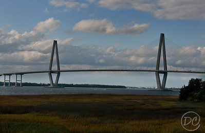 View of the Arthur Ravenel Jr. Bridge/Charleston Bridge/New Cooper River Bridge from Patriots Point. Charleston, South Carolina