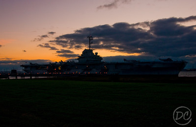 USS Yorktown at sunset Patriot Park Charleston, SC