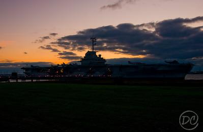 USS Yorktown at sunset Patriot Park Charleston, SC