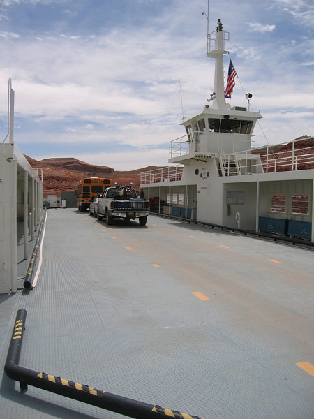 Big bertha, and muddy DR, on the lake powell ferry