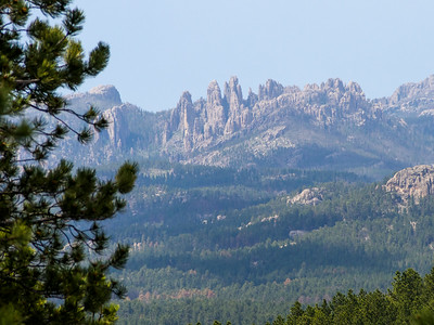 View of Cathedral Spires from Stockade Lake trail