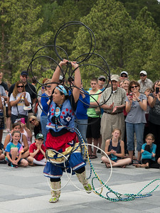 Lakota hoop dance demonstration, Mt. Rushmore
