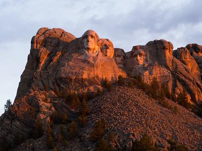Sunrise at Mt. Rushmore