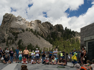 Lakota dance demonstration, Mt. Rushmore