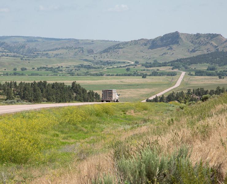 Long South Dakota Road