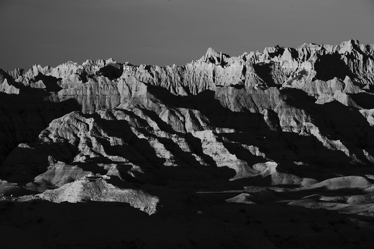 Badlands sunrise1B&W
