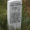 Marker at the Little Bighorn Battlefield National Monument.