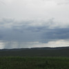 Rain storm over the Little Bighorn Battlefield National Monument.