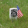 General Custer's marker on Last Stand Hill at the Little Bighorn Battlefield National Monument.