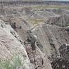 The rugged landscape of Badlands National Park.