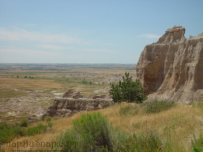 A cliff in Badlands National Park.