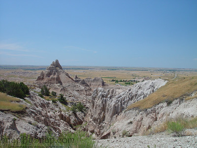 The rugged landscape of Badlands National Park.
